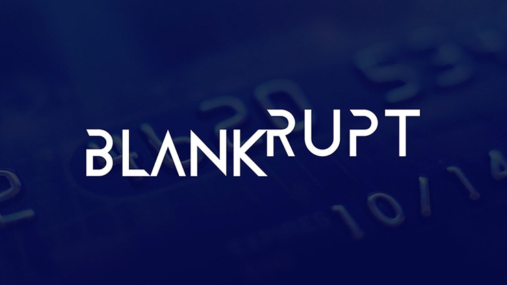 Blankrupt Thick Strip UK Version (Gimmicks and Online Instructions) by Josh Janousky - Trick
