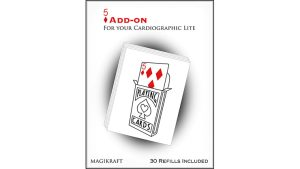 Cardiographic Lite RED CARD 5 of Diamonds Add-On by Martin Lewis - Trick