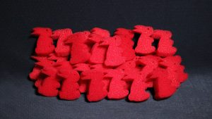 Ultra Soft Red Bunny Bag of 50 by Magic By Gosh