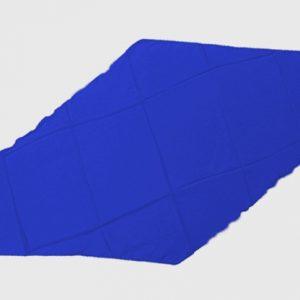 Diamond Cut Silk 18 inch (Blue) by Magic By Gosh - Trick
