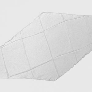 Diamond Cut Silk 18 inch (White) by Magic By Gosh - Trick