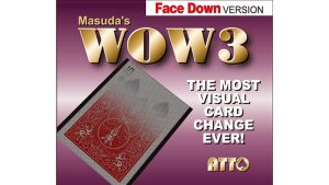 WOW 3 Face-DOWN (Gimmick and Online Instructions) by Katsuya Masuda