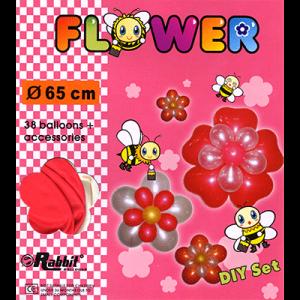 Four Balloon Flower Kit DIY SET (38 balloons 65cm) by Will Roya