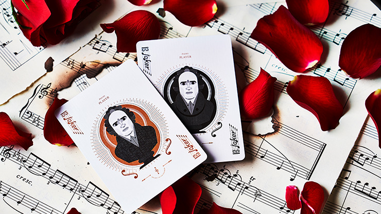 Piano Player Two-Key Edition Playing Cards by Bocopo
