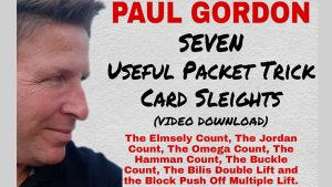 Seven Useful Packet Trick Card Sleights by Paul Gordon video DOWNLOAD - Download