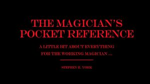 The Magician's Pocket Reference by Stephen R. York eBook DOWNLOAD - Download
