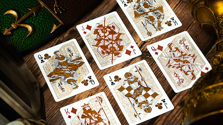 King Arthur (Emerald Saga) Playing Cards by Riffle Shuffle