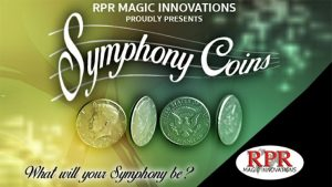 Symphony Coins (US Quarter) Gimmicks and Online Instructions by RPR Magic Innovations
