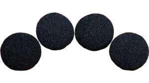3 inch Super Soft Sponge Ball (Black) Pack of 4 from Magic by Gosh