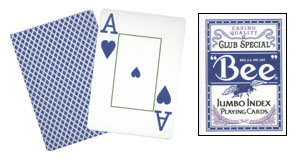 Cards Bee Poker Jumbo Index (Blue)