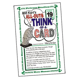 Ron Bauer Series: #19 - Milt Kort's All Outs Think of a Card Milt - Book