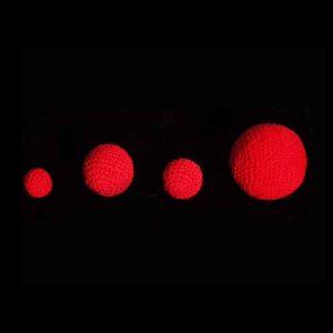 1 inch Crochet Balls (Red) by Uday