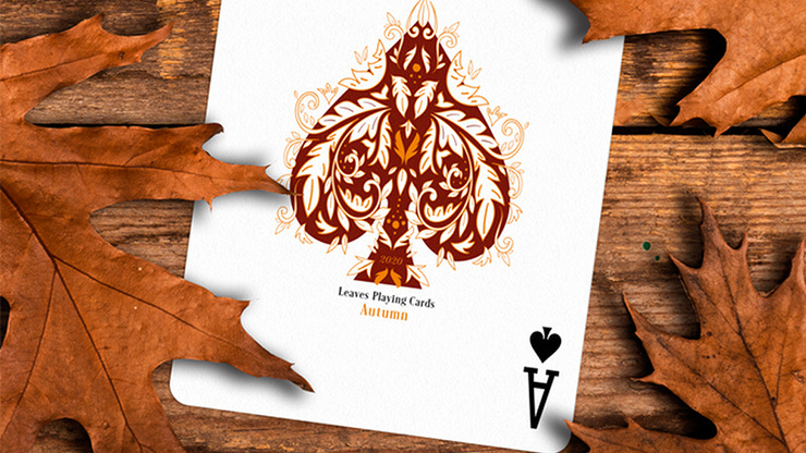 Leaves Autumn Playing Cards by Dutch Card House Company