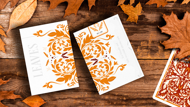 Leaves Autumn Edition Collector's (White) Playing Cards by Dutch Card House Company