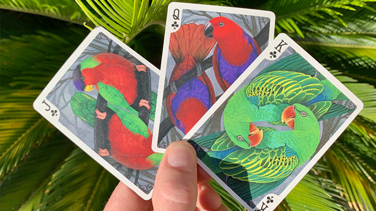 Gilded Bicycle Parrot Playing Cards