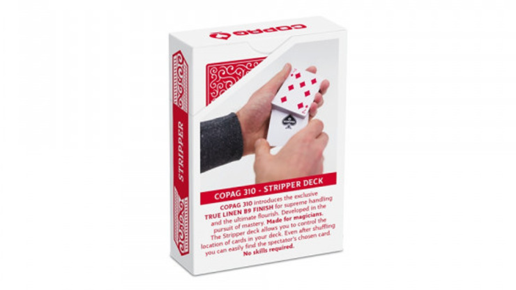 Copag 310 Stripper (RED) Playing Cards
